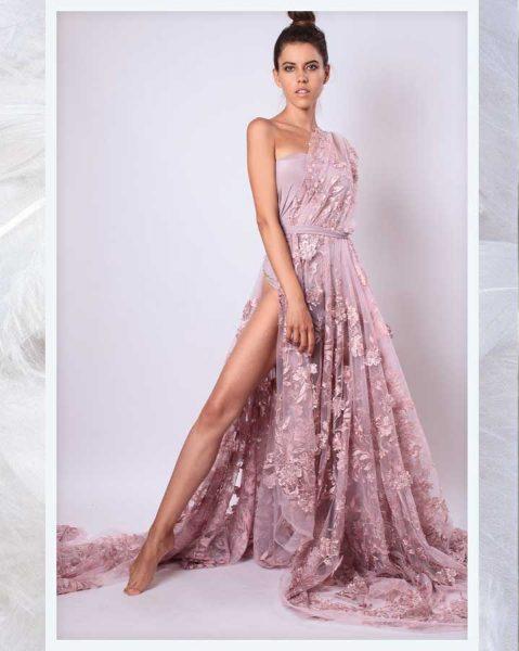 Maturske haljine Bombaj - Cipka sa 3D cvetovima