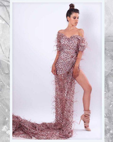 Maturske haljine Bombaj - Cipka 3D